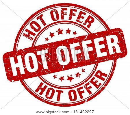 hot offer red grunge round vintage rubber stamp