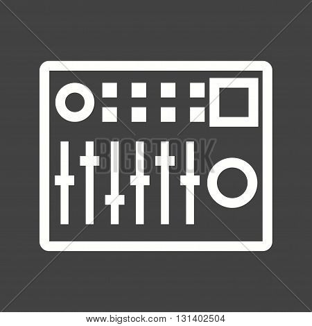 Control, sound, mixer icon vector image. Can also be used for music. Suitable for web apps, mobile apps and print media.