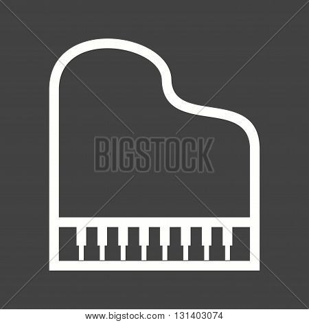 Piano, grand, musical icon vector image. Can also be used for music. Suitable for web apps, mobile apps and print media.