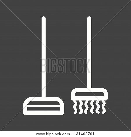 Broom, sweeping, dust icon vector image. Can also be used for home. Suitable for use on web apps, mobile apps and print media.