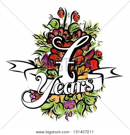 7 Years Greeting Card Design