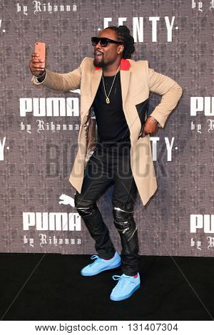NEW YORK-FEB 12: Recording artist Wale attends the FENTY PUMA by Rihanna AW16 Collection during Fall 2016 New York Fashion Week at 23 Wall Street on February 12, 2016 in New York City.