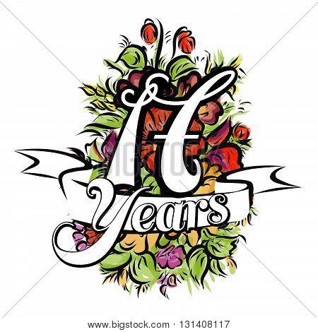 17 Years Greeting Card Design