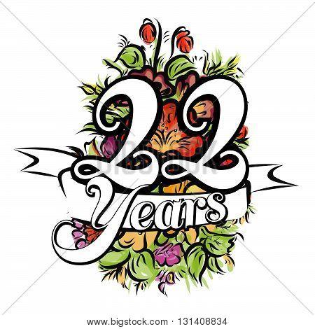 22 Years Greeting Card Design