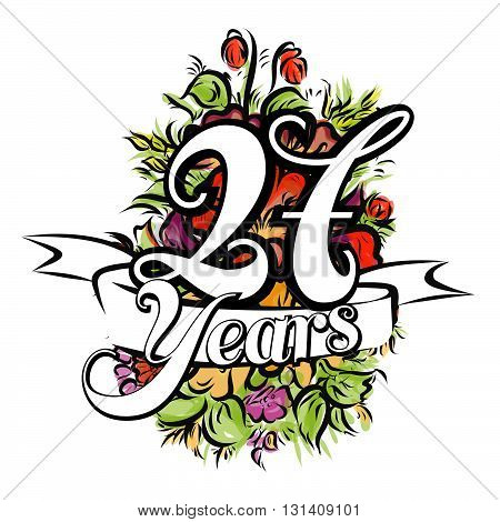 27 Years Greeting Card Design