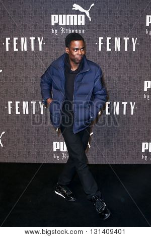 NEW YORK-FEB 12: Actor Chris Rock attends the FENTY PUMA by Rihanna AW16 Collection during Fall 2016 New York Fashion Week at 23 Wall Street on February 12, 2016 in New York City.