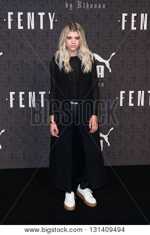 NEW YORK-FEB 12: Sofia Richie attends the FENTY PUMA by Rihanna AW16 Collection during Fall 2016 New York Fashion Week at 23 Wall Street on February 12, 2016 in New York City.