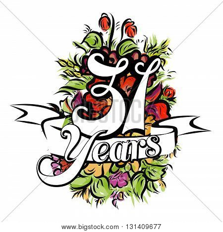31 Years Greeting Card Design