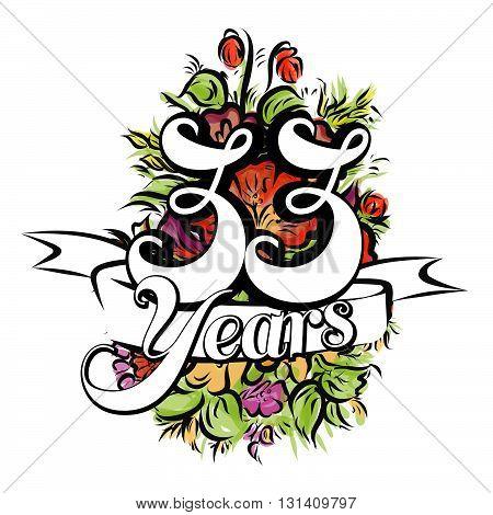 33 Years Greeting Card Design