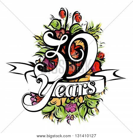 39 Years Greeting Card Design