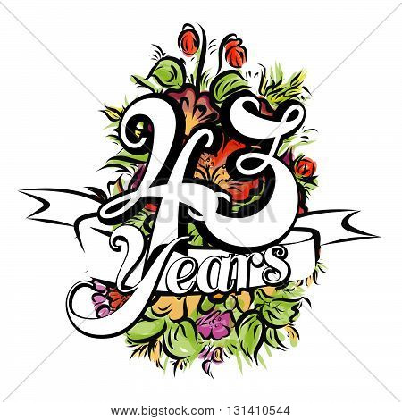 43 Years Greeting Card Design