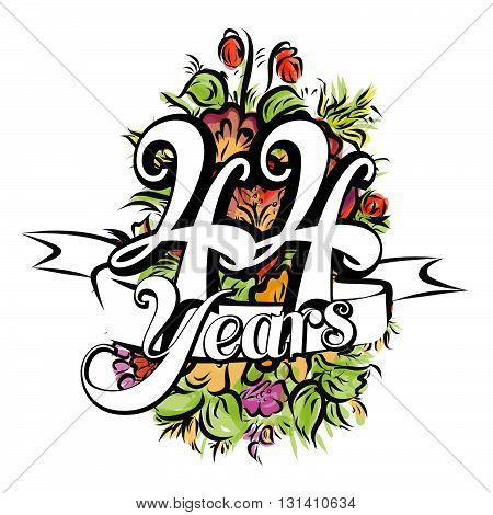 44 Years Greeting Card Design