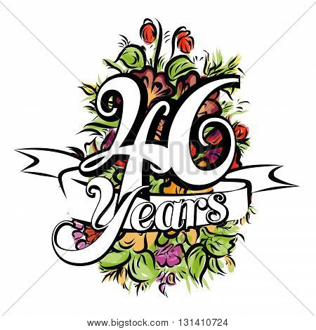 46 Years Greeting Card Design