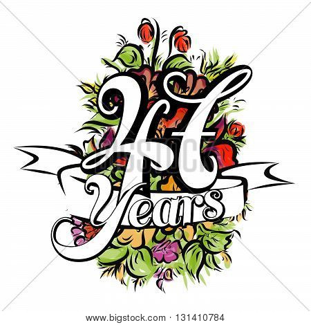 47 Years Greeting Card Design