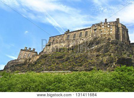 castle at Edinburgh Scotland - Scotland famous landmarks