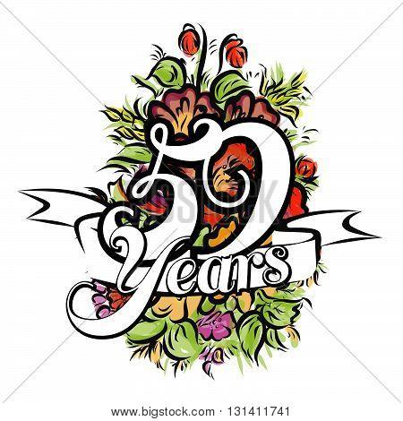 59 Years Greeting Card Design