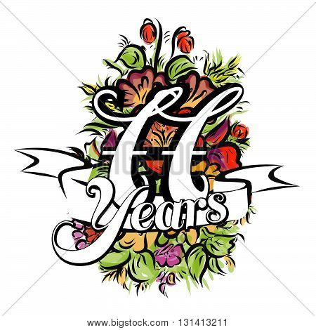 77 Years Greeting Card Design