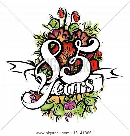 85 Years Greeting Card Design