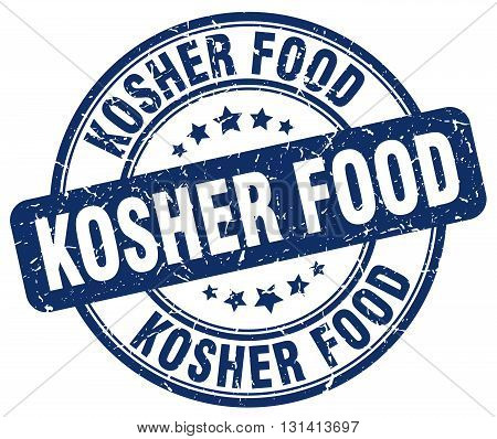 kosher food blue grunge round vintage rubber stamp.kosher food stamp.kosher food round stamp.kosher food grunge stamp.kosher food.kosher food vintage stamp.