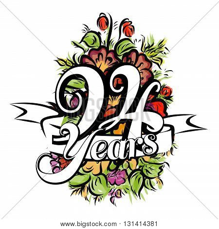 94 Years Greeting Card Design