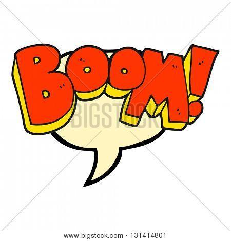 freehand drawn speech bubble cartoon boom
