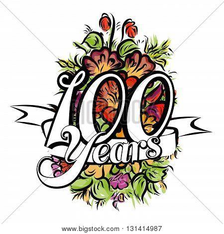 100 Years Greeting Card Design
