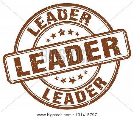 leader brown grunge round vintage rubber stamp.leader stamp.leader round stamp.leader grunge stamp.leader.leader vintage stamp.