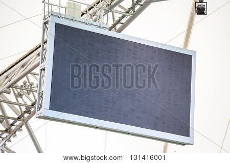 Blank led screen installed on the stadium