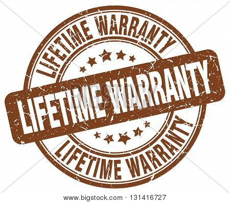 lifetime warranty brown grunge round vintage rubber stamp.lifetime warranty stamp.lifetime warranty round stamp.lifetime warranty grunge stamp.lifetime warranty.lifetime warranty vintage stamp.