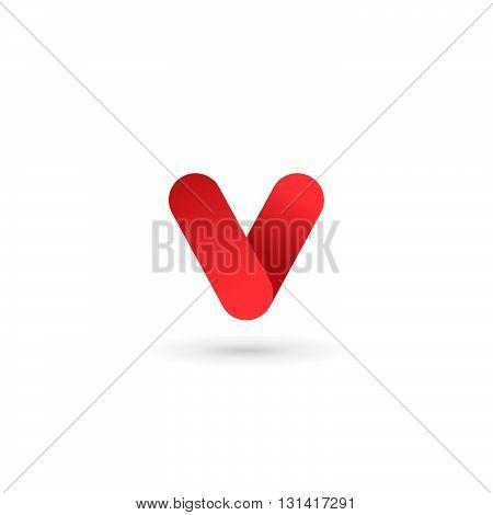 Letter V Number 5 Logo Icon Design Template Elements