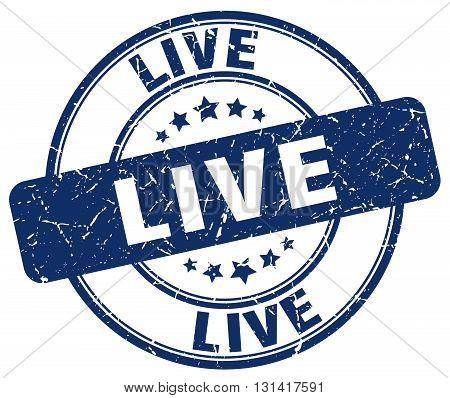 live blue grunge round vintage rubber stamp.live stamp.live round stamp.live grunge stamp.live.live vintage stamp.