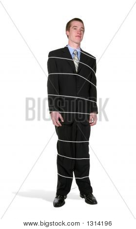 Tied Business Man