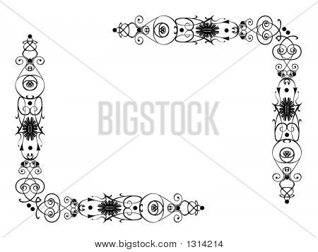Scrolling Flowers With Swirls