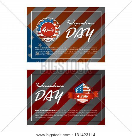 Independence day banner with usa flag background