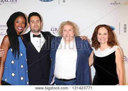LOS ANGELES - MAY 24:  Xosha Roquemore, Ed Weeks, Fortune Feimster, Beth Grant at the 41st Annual Gracie Awards Gala at Beverly Wilshire Hotel on May 24, 2016 in Beverly Hills, CA
