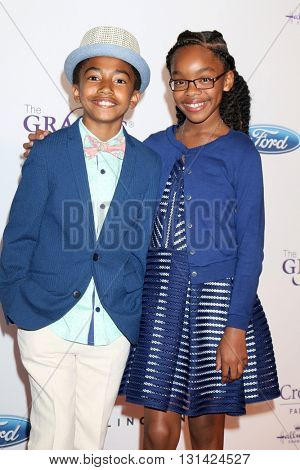 LOS ANGELES - MAY 24:  Miles Brown, Marsai Martin at the 41st Annual Gracie Awards Gala at Beverly Wilshire Hotel on May 24, 2016 in Beverly Hills, CA