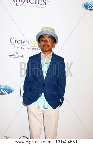 LOS ANGELES - MAY 24:  Miles Brown at the 41st Annual Gracie Awards Gala at Beverly Wilshire Hotel on May 24, 2016 in Beverly Hills, CA
