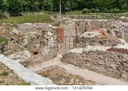 Ancient Ruins of The Thermal Baths of Diocletianopolis, town of Hisarya, Plovdiv Region, Bulgaria
