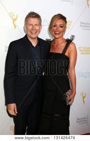 LOS ANGELES - MAY 25:  Patrick Kielty, Cat Deeley at the 37th College Television Awards at Skirball Cultural Center on May 25, 2016 in Los Angeles, CA
