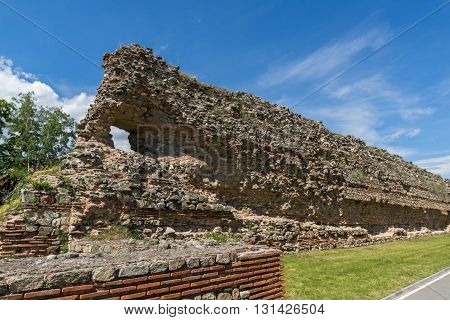 Ruins of Roman fortifications in Diocletianopolis, town of Hisarya, Plovdiv Region, Bulgaria