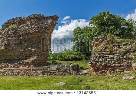 Ruins of ancient Roman fortifications in Diocletianopolis, town of Hisarya, Plovdiv Region, Bulgaria