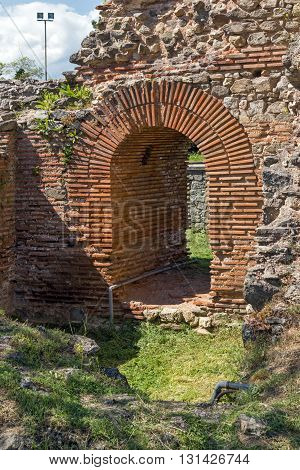 Small entrance of the Roman city of Diocletianopolis, town of Hisarya, Plovdiv Region, Bulgaria