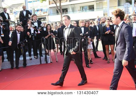 CANNES, FRANCE - MAY 21:  Gad Elmaleh, Kev Adams attends the 'Elle' Premiere during the 69th annual Cannes Film Festival at the Palais des Festivals on May 21, 2016 in Cannes, France.
