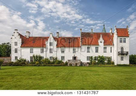 Image of the castle and convent of Bosjokloster Sweden. Popular tourist destination.