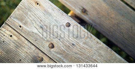 Website banner of old rusty wooden steps