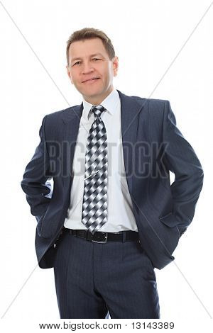 Portrait of a middle aged businessman. Shot in a studio.