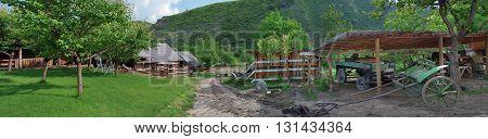Old farm in Butuceni in the Moldova
