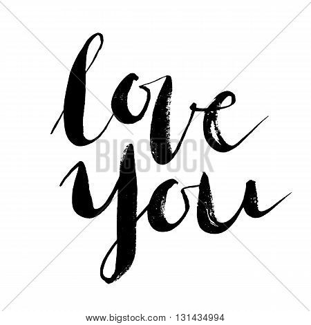 Love wins. Brush hand lettering quote. Vector illustration isolated on white background.