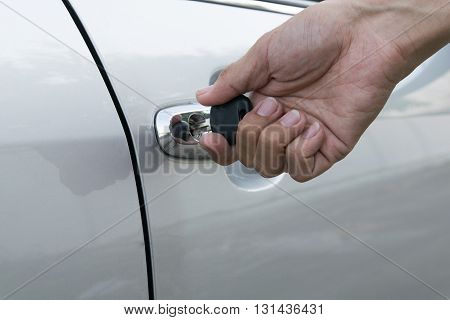 open car door with key. car, door, key, vehicle, lock, driver,