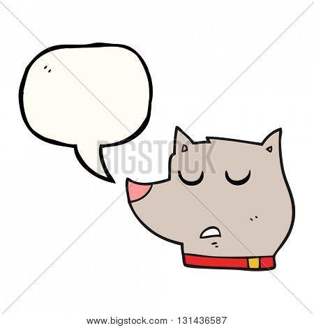 freehand drawn speech bubble cartoon dog